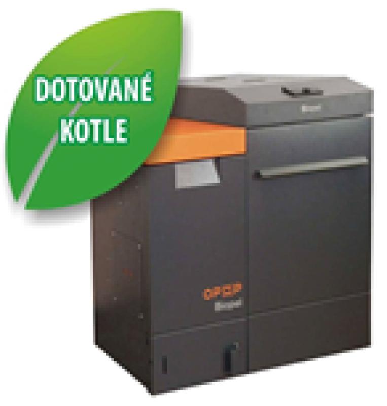 Automatický kotel české výroby na pelety o výkonu 20 kW Opop