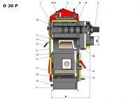 Atmos automatický kotel na pelety o výkonu 22 kW