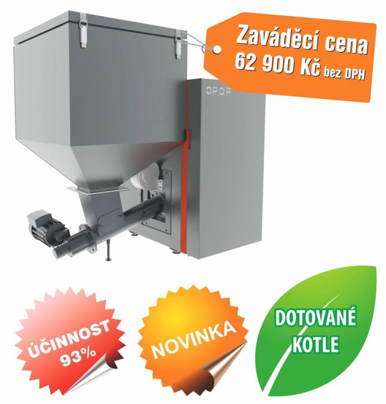Automatický kotel se zásobníkem na uhlí H824-A 24 KW dotace Opop